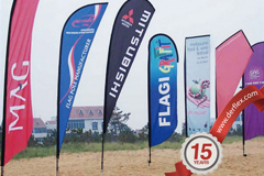 flag display advertising